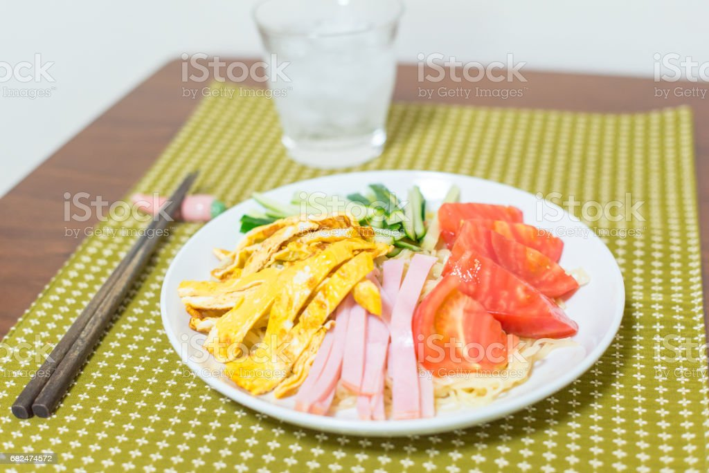 Cold Noodle Salad royalty-free stock photo