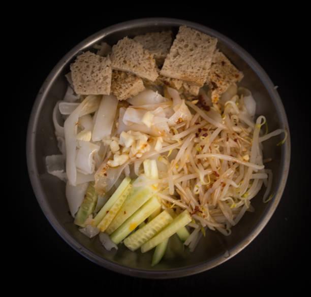 cold noodles stock photo