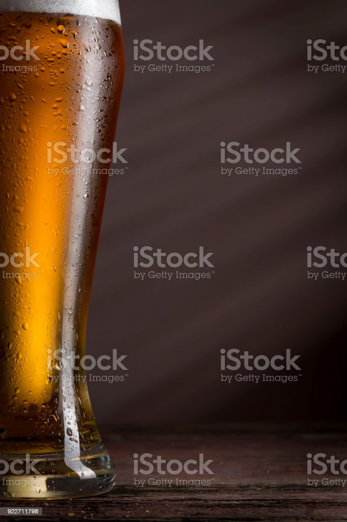 Cold pale beer stock photo