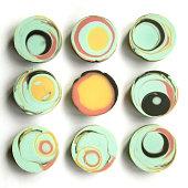 Artisanal round handmade soap