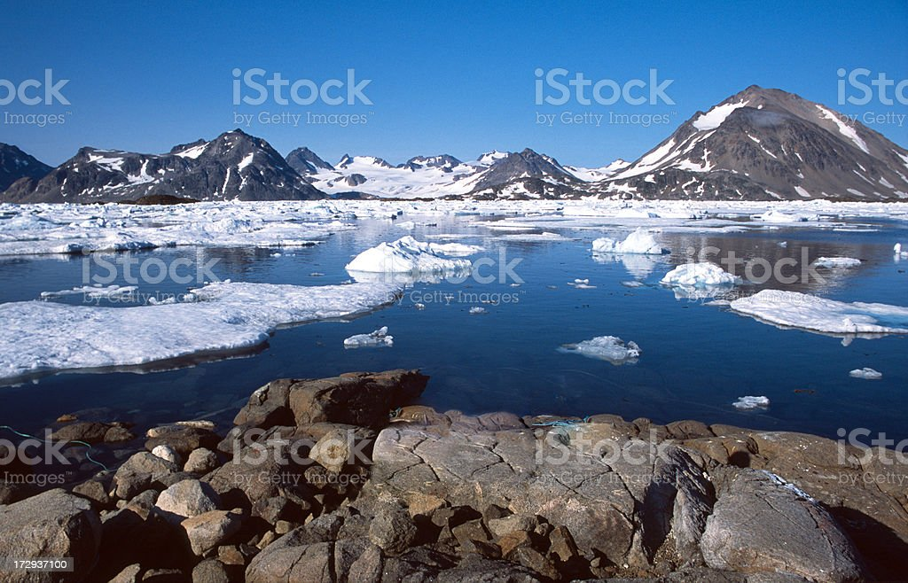 Cold reflections stock photo