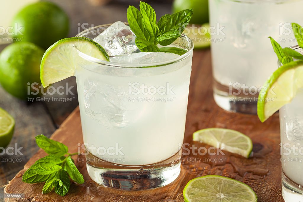 Cold Refreshing Iced Limeade stock photo