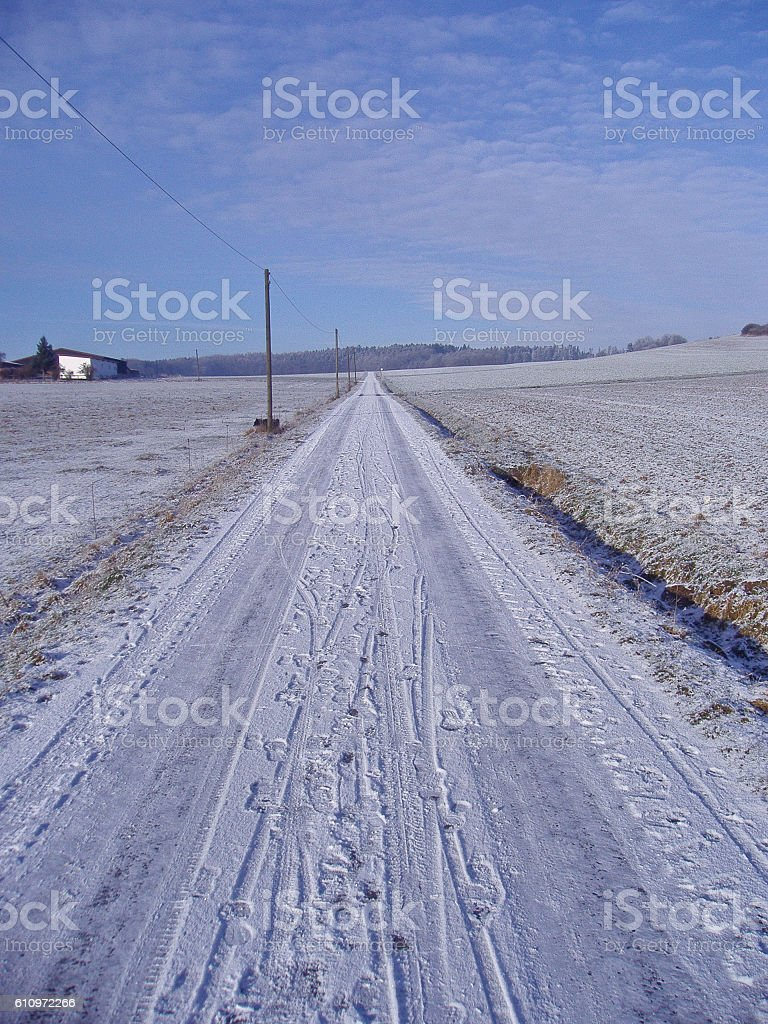 Cold Road stock photo