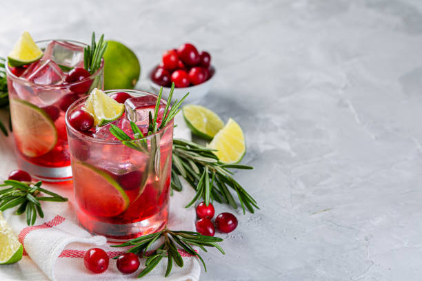 Cold season drink - cranberry and rosemary cocktail