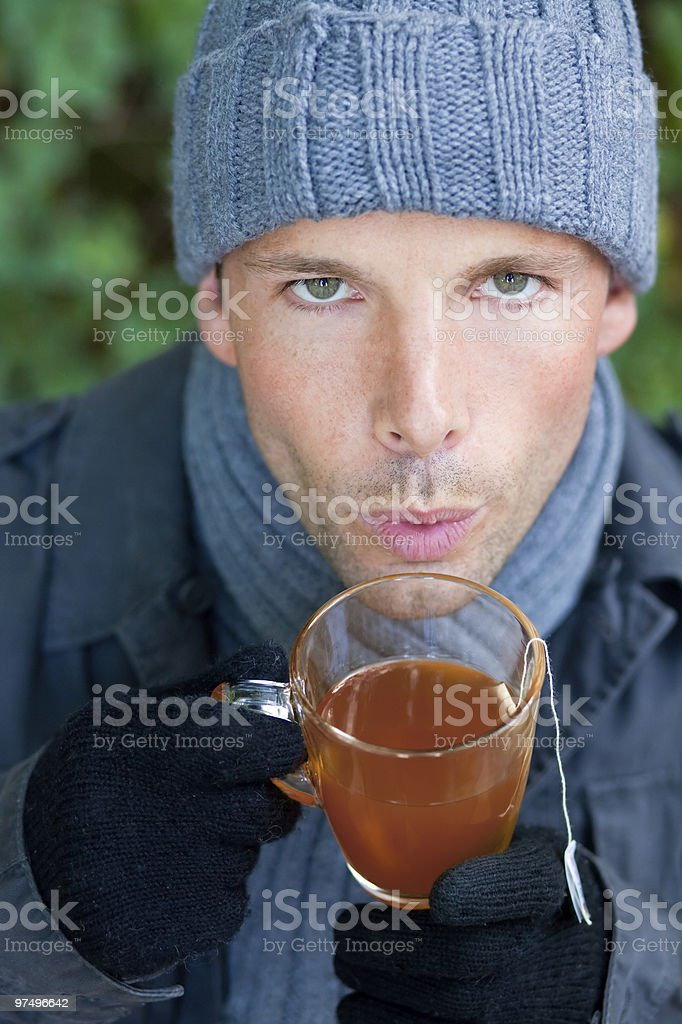 cold season man healthcare royalty-free stock photo