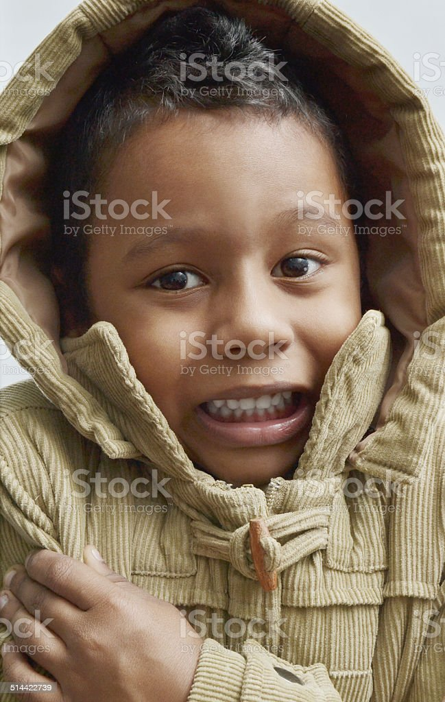 cold shivering stock photo