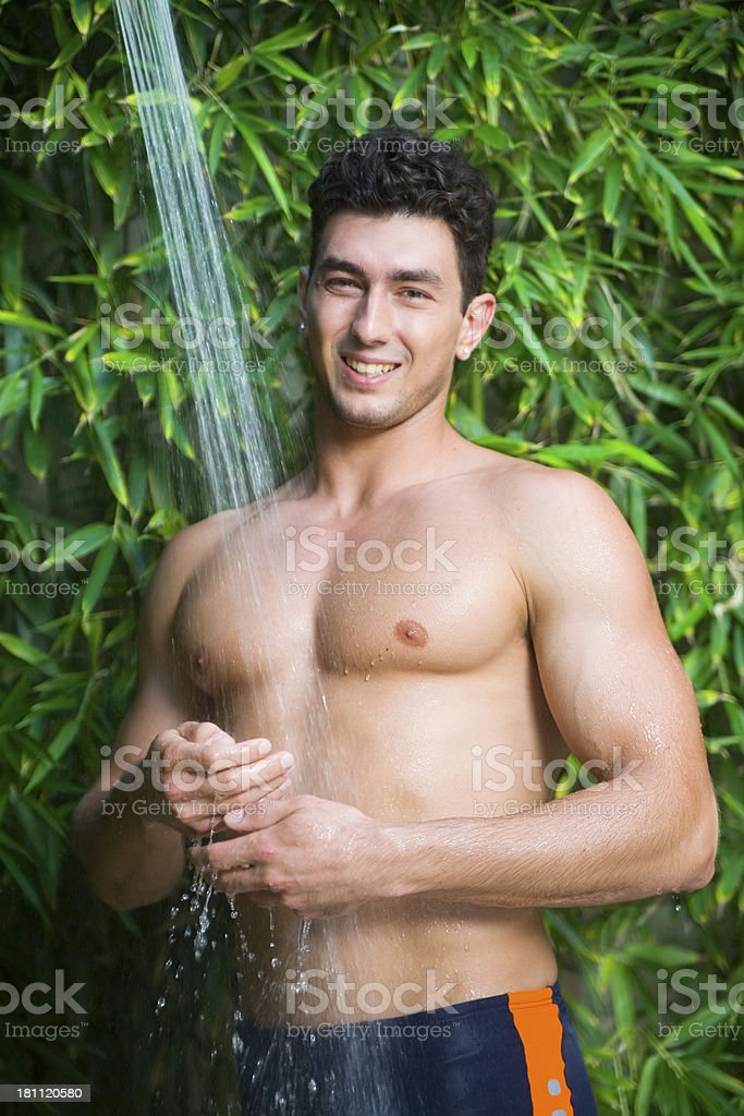 cold shower royalty-free stock photo