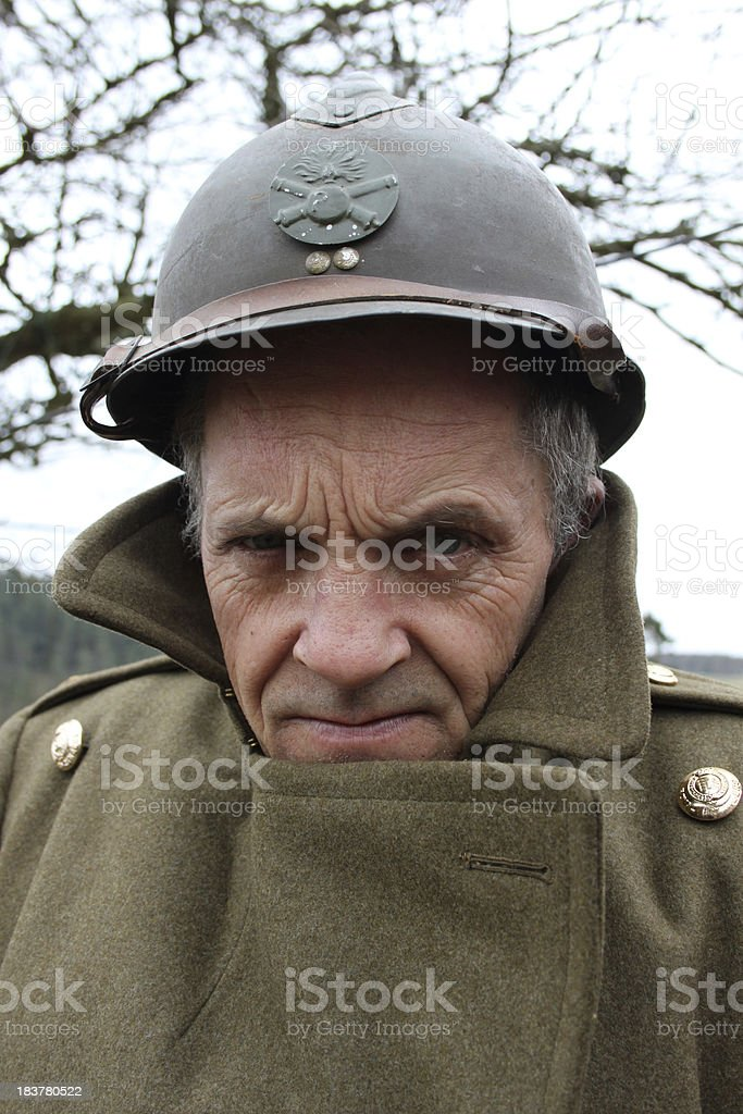 Cold Soldier. stock photo