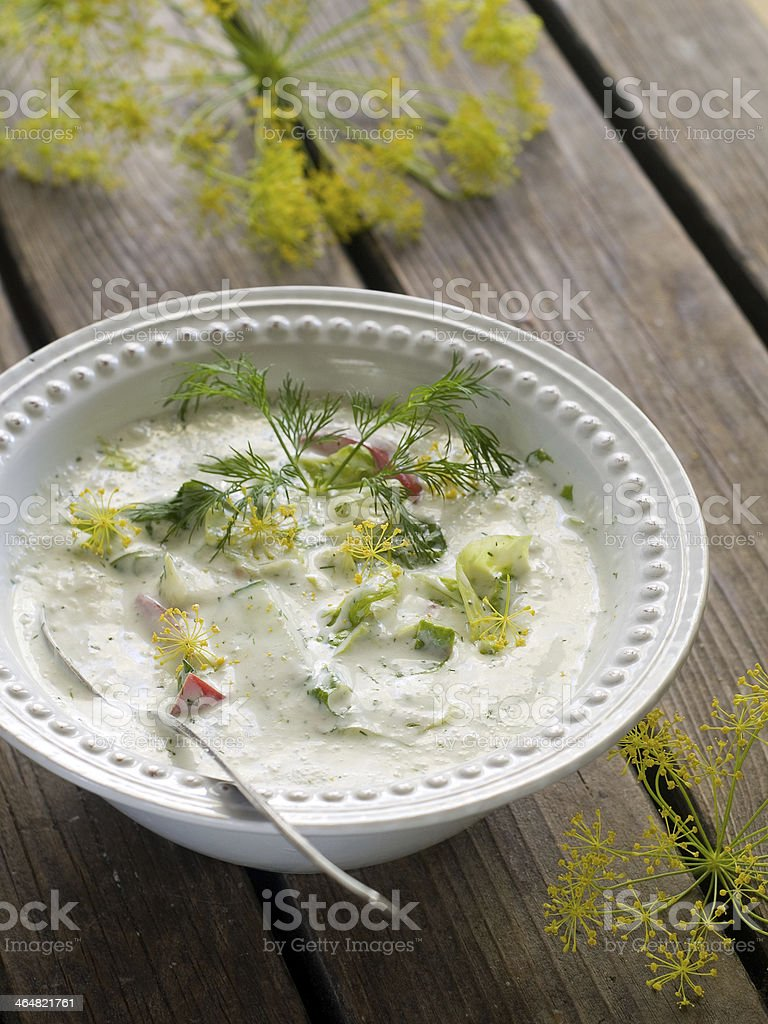 cold soup stock photo