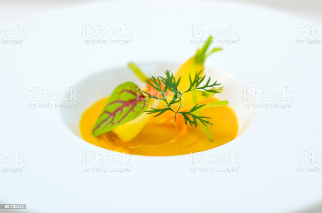 cold soup,carrot soup royalty-free stock photo