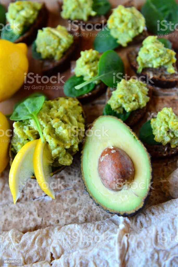 Koude voorgerechten - Royalty-free Avocado Stockfoto