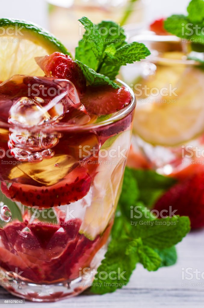 Cold strawberry drink royalty-free stock photo
