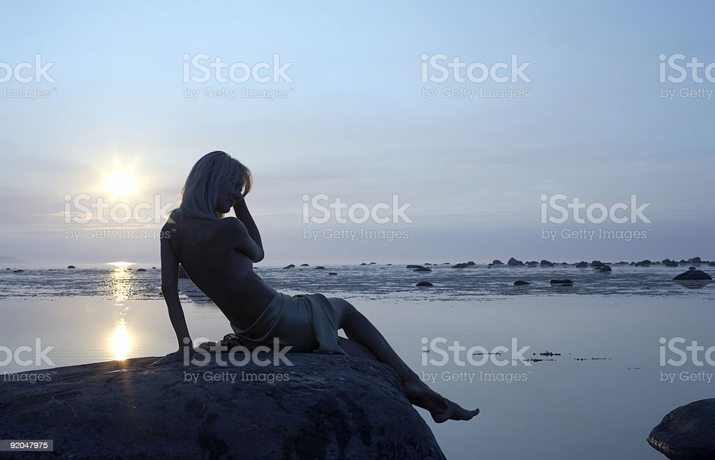 cold summer royalty-free stock photo