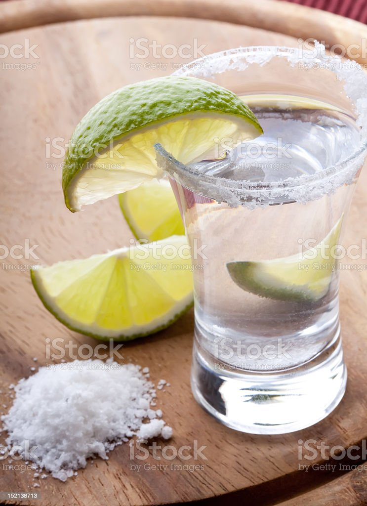 cold tequila shots royalty-free stock photo