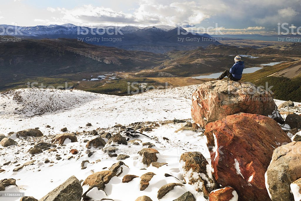 Cold View of Valley stock photo