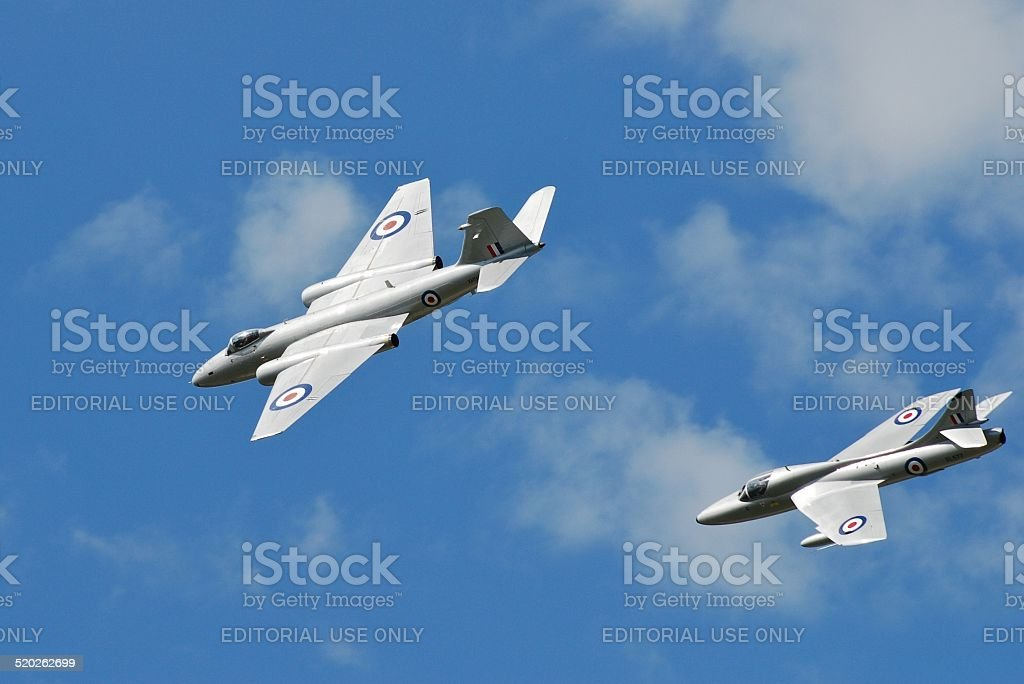 Cold War jet formation stock photo