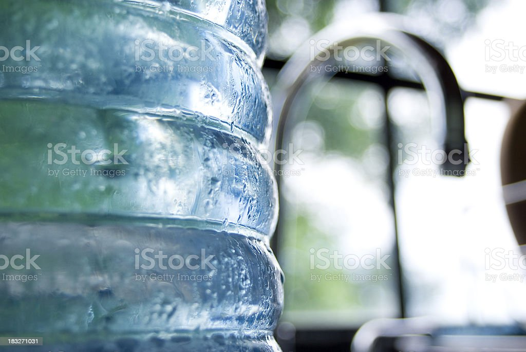 cold water in bottle close up abstract royalty-free stock photo