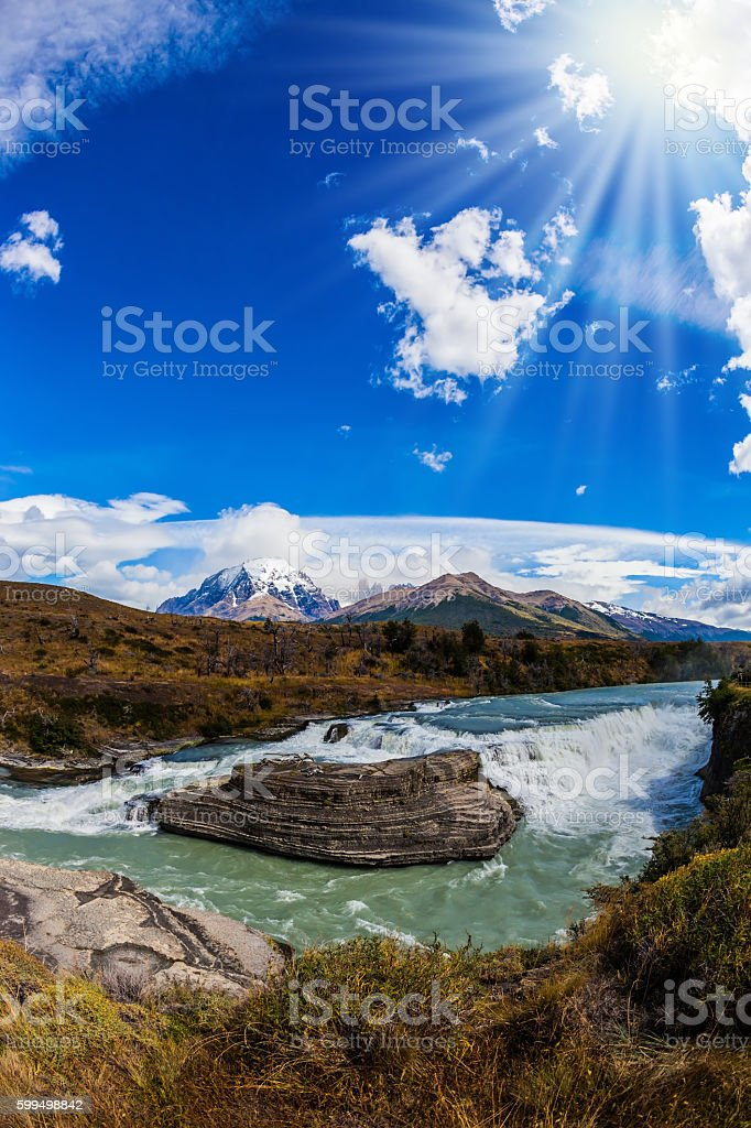 Cold water is Paine river stock photo