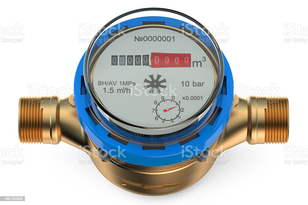 cold water meter stock photo