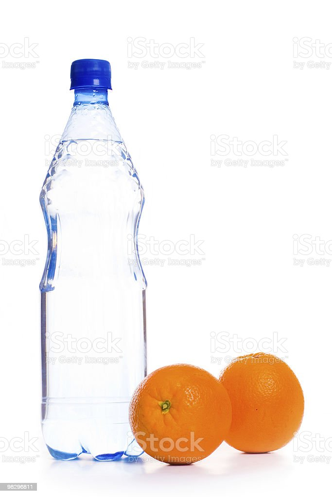 cold water with fruit royalty-free stock photo