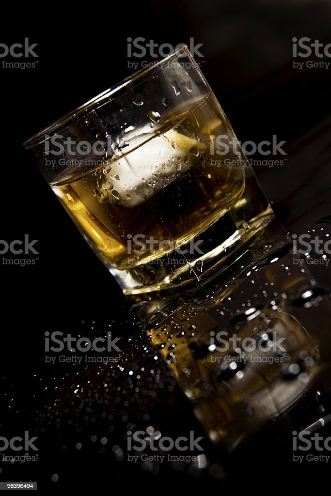 Cold Whiskey Glass royalty-free stock photo