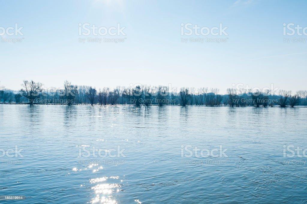 Kalte Wintertage auf dem Rhein Lizenzfreies stock-foto