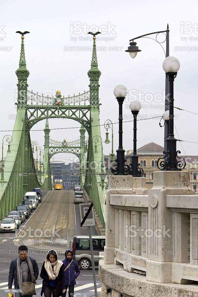 Cold Winter Day in Budapest, Hungary stock photo