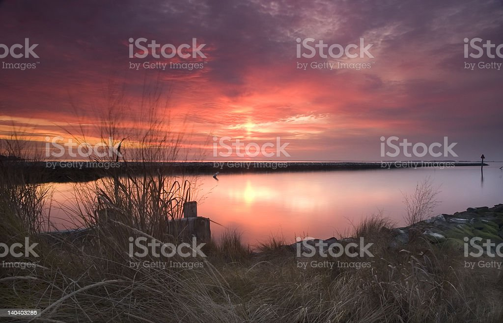 Cold Winter Water stock photo