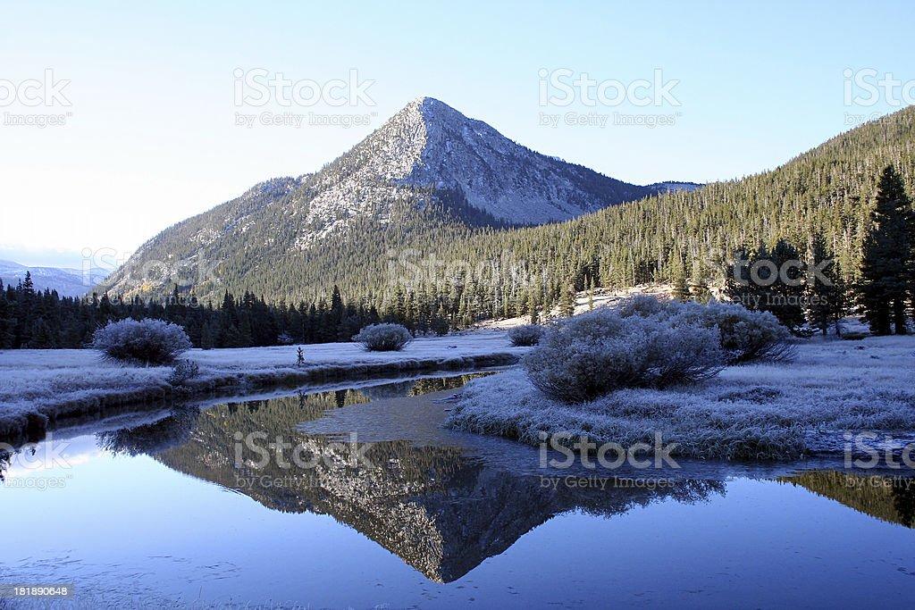 Cold Yosemite Landscape royalty-free stock photo