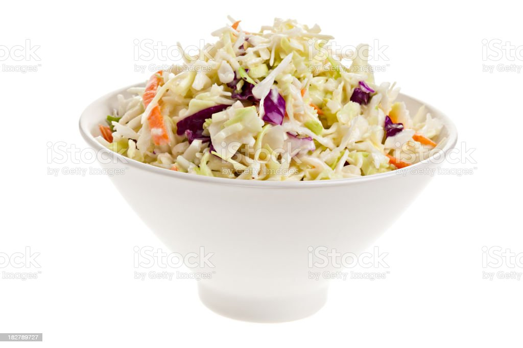 Cole Slaw In A Bowl stock photo