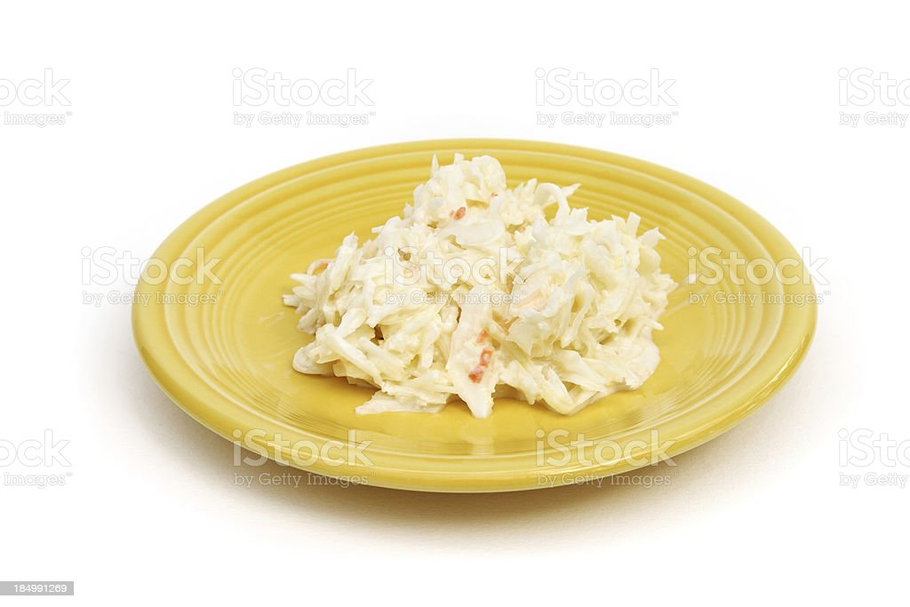 Cole slaw on small plate royalty-free stock photo