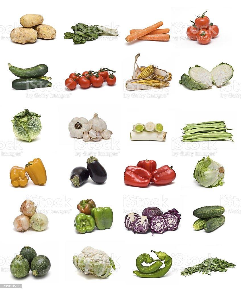 Colección de verduras. stock photo