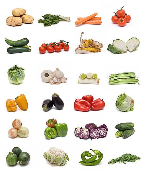 colección de verduras. - knoblauchkartoffeln stock-fotos und bilder
