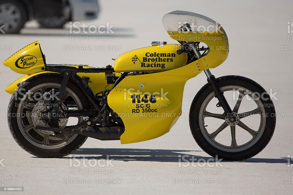 Coleman Brother Racing team motorbike at the World of Speed stock photo