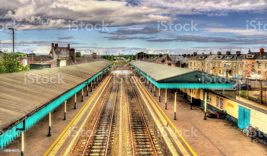 Coleraine railway station - County Londonderry, Northern Ireland stock photo