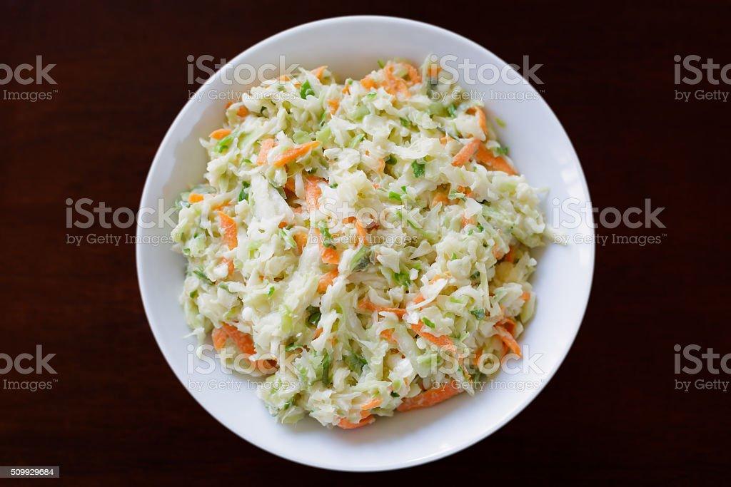 Coleslaw in Bowl stock photo