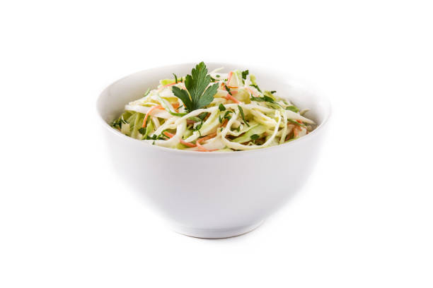coleslaw salad - coleslaw stock pictures, royalty-free photos & images