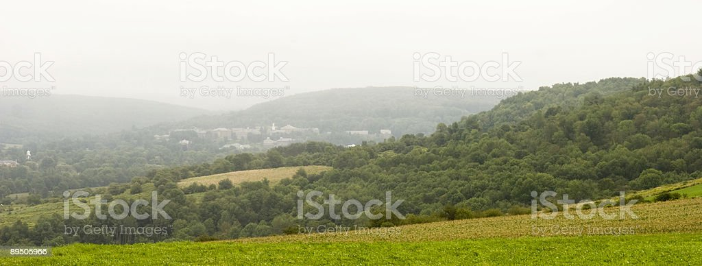 Colgate University in a Summer Rain royalty-free stock photo