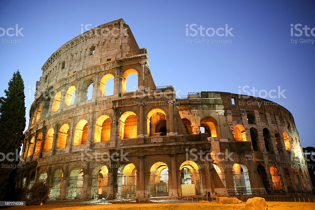 Coliseum by Night royalty-free stock photo
