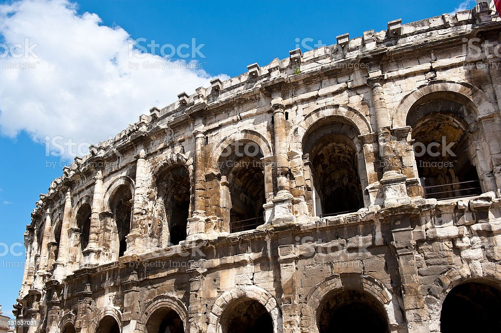 Coliseum in Nimes royalty-free stock photo