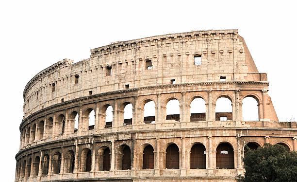 Coliseum, isoliert auf weiss, Rom, Italien – Foto