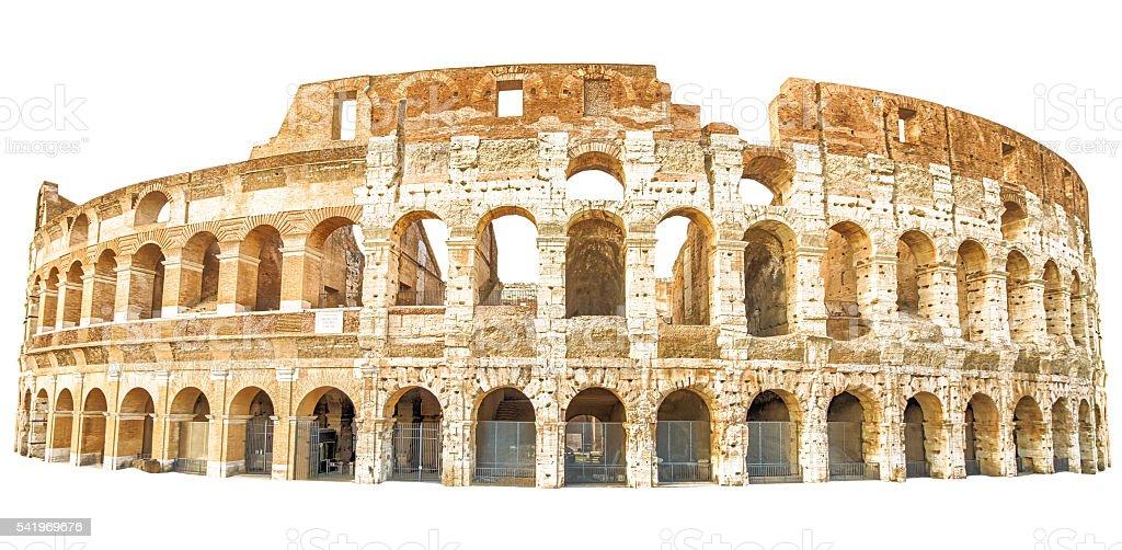 Coliseum Rome isolated stock photo