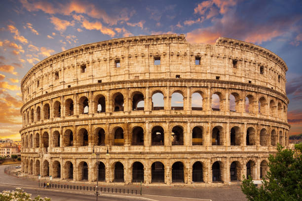 Coliseum, Rome, Italy. Coliseum or Flavian Amphitheatre (Amphitheatrum Flavium or Colosseo), Rome, Italy. coliseum rome stock pictures, royalty-free photos & images