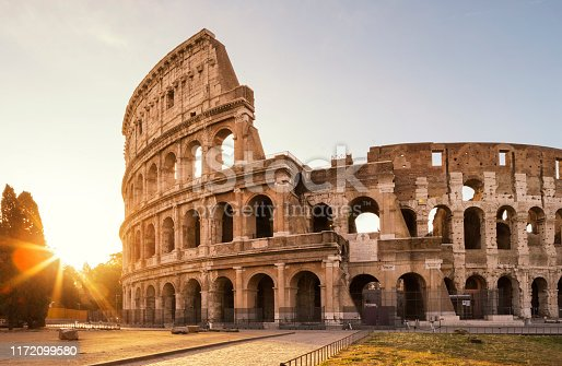 The Colosseum is an oval amphitheatre in the centre of the city of Rome, Italy.