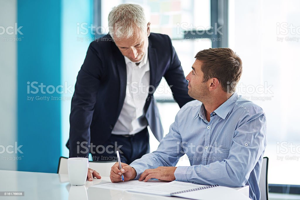 Collaborate with people you can learn from stock photo