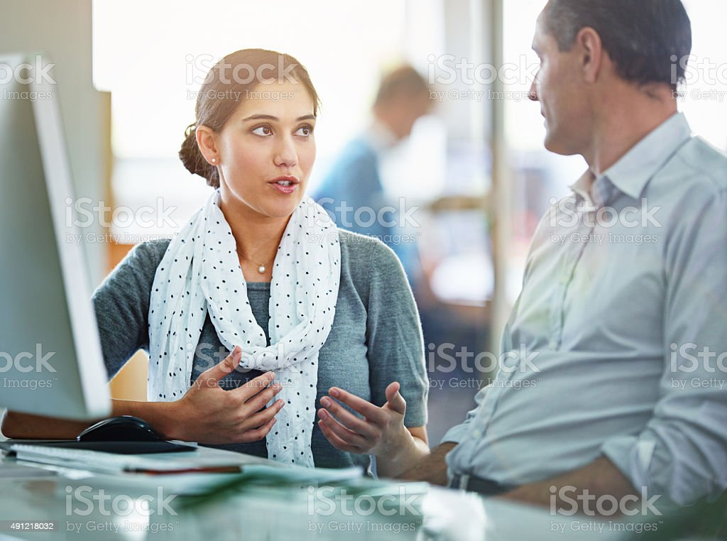 Collaborating on the creative process stock photo
