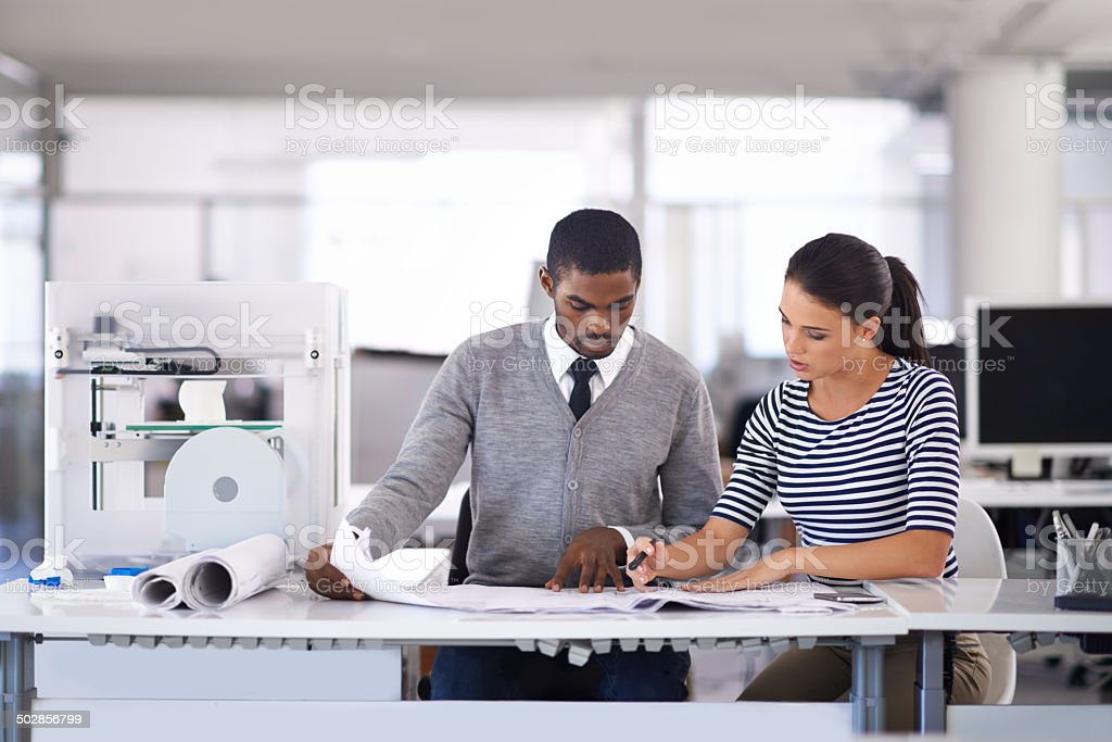 Collaborating on the perfect project stock photo