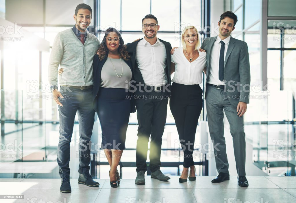 Collaborating was a smart move stock photo
