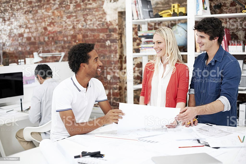 Collaboration leads to success royalty-free stock photo