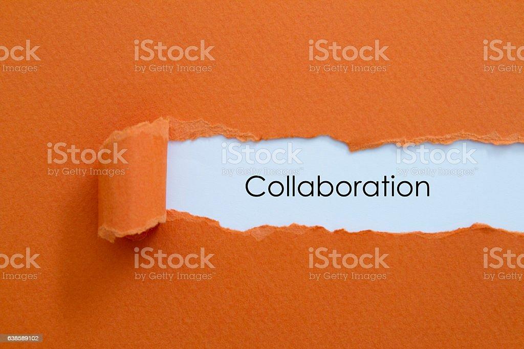Collaboration stock photo